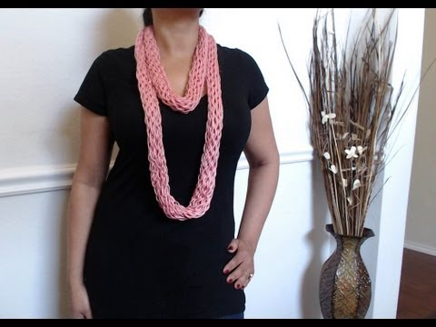 How to make no crochet or knit scarf (just yarn and cardboard)