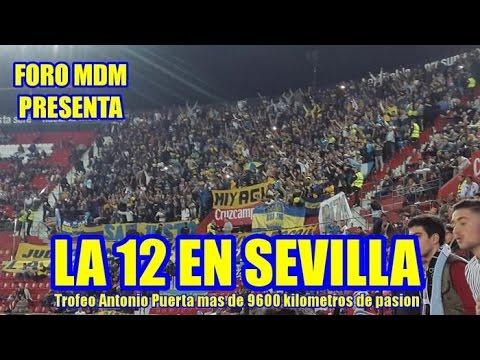 La 12  de Boca en Sevilla - La 12 - Boca Juniors