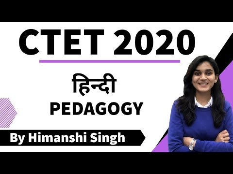 Target CTET-2020 | Hindi Pedagogy  by  Himanshi Singh | Part-01