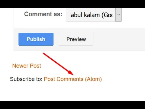 How to hide / remove subscribe to posts atom from blogger blog | Blogspot tutorial for beginners.