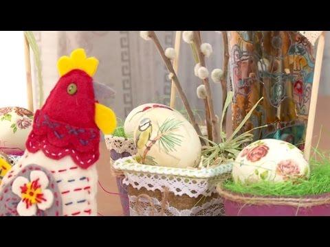\Женский клуб\ - оформление пасхальных яиц в технике декупаж (Бийское телевидение)