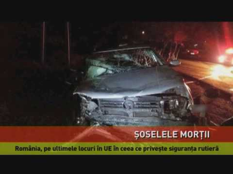 România, pe ultimele locuri în UE în ceea ce priveşte siguranţa rutieră
