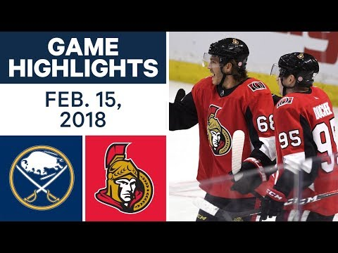 Video: NHL Game Highlights | Sabres vs. Senators - Feb. 15, 2018