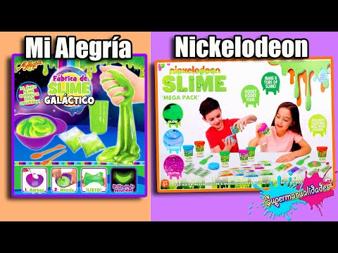 Slime Kit Barato Vs Caro Que Brilla En La Oscuridad (Mi Alegría Y Nickelodeon) - Supermanualidades