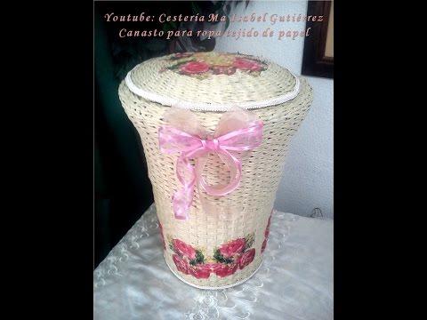 diy - cesta in finto vimini realizzata a mano e decorata col decoupage