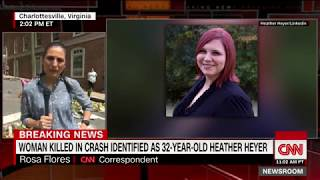 People in Charlottesville, Virginia, have created a makeshift memorial for Heather Heyer, a 32-year-old woman who was killed when a driver plowed through a ...
