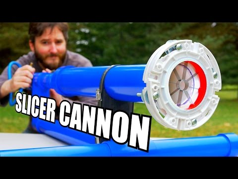 How to Make a Specialty Air Cannon Barrel With BuiltIn Produce Slicing