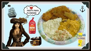 Fried Up a little Flounder with some of my Moss Chicken Breader Mix !!! Had some Mac n Cheese with Smoked Sausage , Coleslaw , and my Homemade Tartar Sauce !!! It's REAL GOOOOOOOOOOD Y'all ...