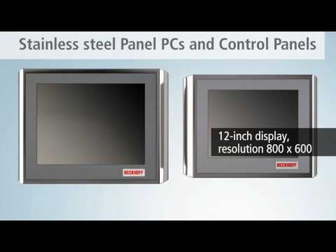 Stainless steel Panel PCs and Control Panel from Beckhoff