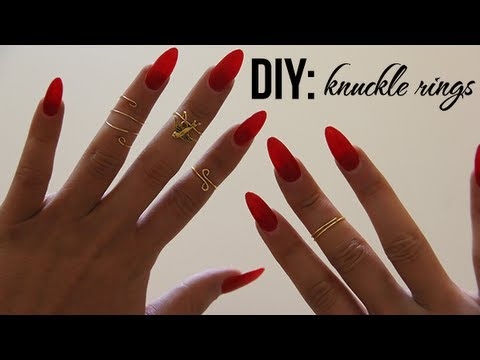 Knuckle - Everything you want to know is right here... These knuckle rings are super easy to make and inexpensive. All supplies are from Michaels. The wire is less tha...