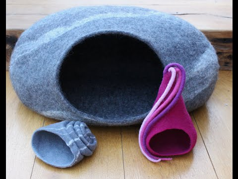 Anleitung um eine Katzenhöhle zu filzen