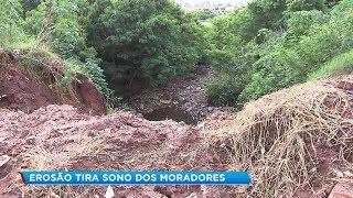 Erosão preocupa moradores na Zona Oeste de Bauru