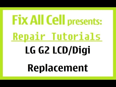 replacement - This is the instructions on how to replace the lcd/glass/digitizer assembly on the LG G2. (they are all one piece, fuzed together by OCA glue) There was noth...