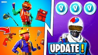 *NEW* Fortnite 6.3 Update! | Free Vbucks/Skin, Re-Deploy, Food War I!