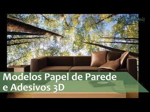 Imagens de papel de parede - Modelos de Papel de Parede 3D - Adesivos 3D
