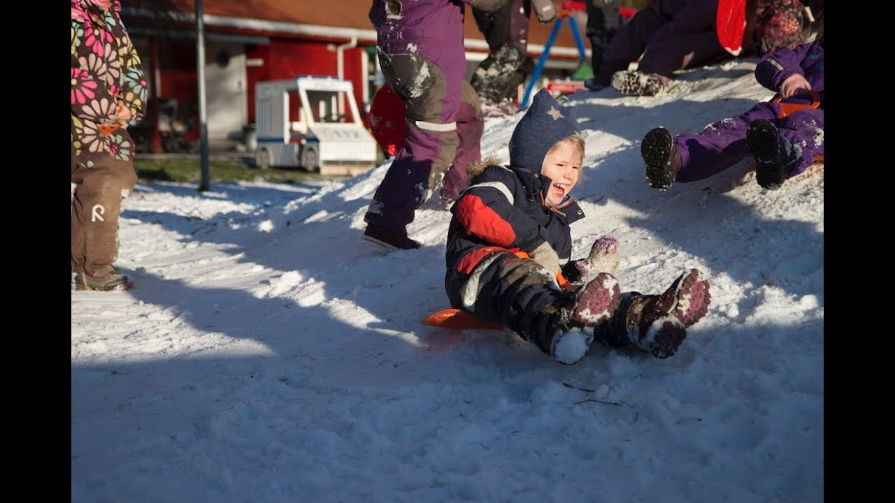 Snø i Sola barnehage