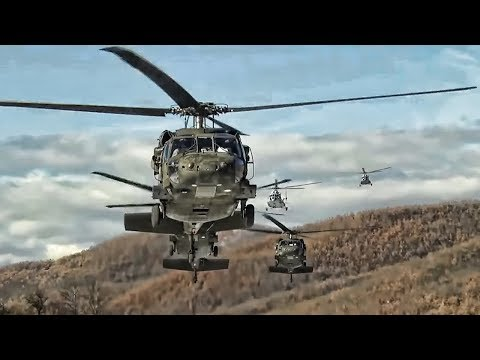 U.S. Army and Polish Paratroopers • Joint Air Assault Drill