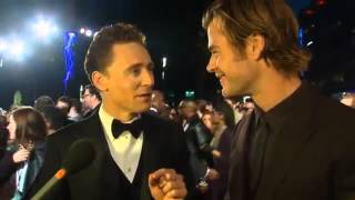 Tom Hiddleston Becomes a Hemsworth at Thor Premiere   Video Library   Action Reporter Media full download video download mp3 download music download