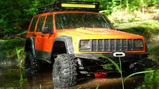 No terrain is too crazy for this axial SCX10 ii! Water, Mud, crawling, it does it all!The scx10 ii impresses me every time I drive it!