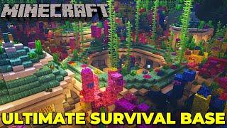 Minecraft 1.15 Ultimate Survival Base : Underwater Base TIMELAPSE
