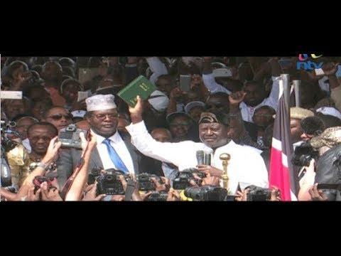 Raila Odinga sworn in as the people's president in record time