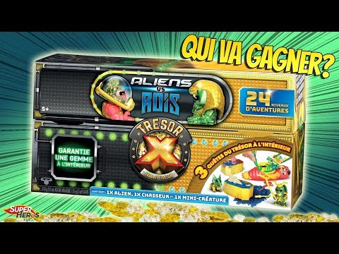 Tresor X Aliens Vs Rois en Or Qui sera le vainqueur et le plus beau?  Dernier Tresor X Moose Toys