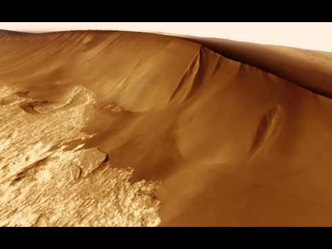 Dune avalanche on Mars