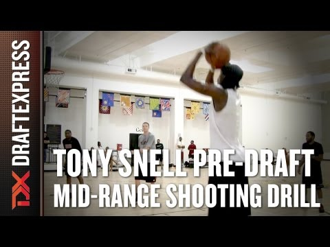 Tony Snell - 2013 NBA Pre-Draft Workout - Mid-Range Shooting Drill
