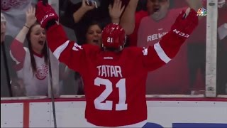 Every Goal by Tomas Tatar from the 2014-15 Regular Season + Playoffs. Regular Season 0:00 - #1 - 10/15/14 vs Bos 0:20 - #2 - 10/31/14 vs LA 0:48 - #3 - 11/2/...