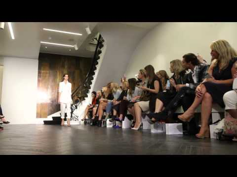 Orly UK talks nails with fashion designer, Amanda Wakeley, backstage at LFW.