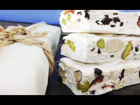 Nougat - Recipe: http://goo.gl/nzcqyd Subscribe: http://bit.ly/H2CThat How to make home made nougat candy from scratch How To Cook That Channel: http://youtube.com/ho...