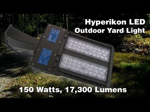 Hyperikon outdoor LED yard  or parking lot light. 150 watt, 17,300 lumens