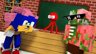 Video Monster School : AVM SHORTS - STICKMAN & SONIC THE HEDGEHOG CHALLENGE - Minecraft Animation MP3, 3GP, MP4, WEBM, AVI, FLV Oktober 2018