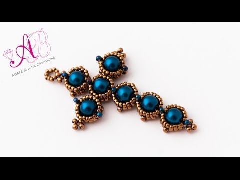 DIY - Croix Notre Dame Tutorial - Beadwork - Beaded Cross