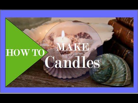 DIY Seashell Candles | Interior Design Tips