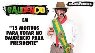 #GaudencioPresidenteInscrevam-se no canal oCrisPereira:https://www.youtube.com/ocrispereiraLink do último vídeo do canal:https://www.youtube.com/watch?v=MR9BJ87FxbsRedes sociais do oCrisPereira:Facebook: /oCrisPereiraInstagram: @ocrispereira e @GaudencioSinceroTwitter: @ocrispereiraSnapchat: ocrispereira