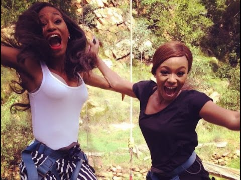 Top Billing bungee jumps with Miss SA 2014 Ziphozakhe Zokufa