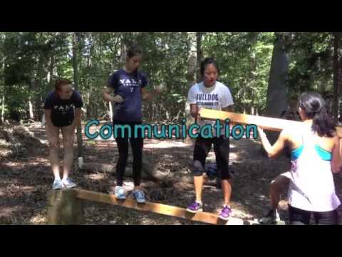 Yale Women's Tennis team building exercise