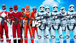 Video ALL RED POWER RANGERS VS STORMTROOPERS ARMY MP3, 3GP, MP4, WEBM, AVI, FLV Desember 2018