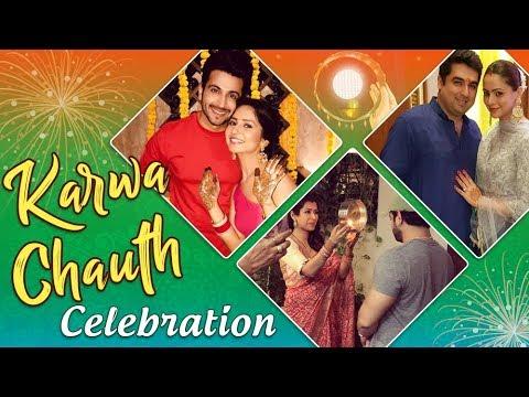 TV Celebs KARWACHAUTH Celebration : Karan Patel, A