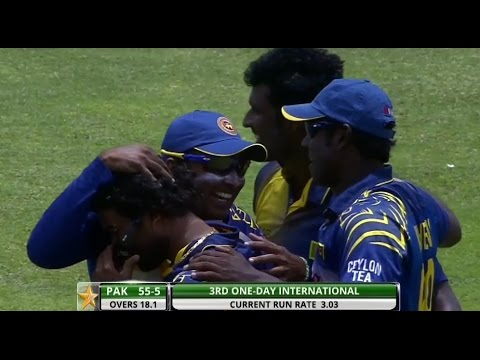 Fine stumping by Sangakkara to dismiss Lara