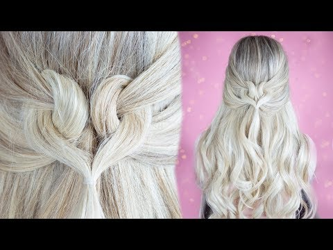 Easy hairstyles - Heart Hair!! Easy Hairstyle for Valentines Day