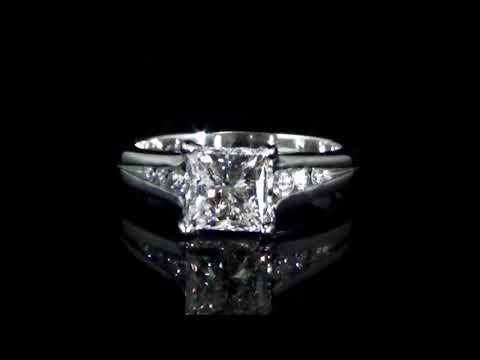 CGL Certified 1.51ct Princess Cut Diamond Ring