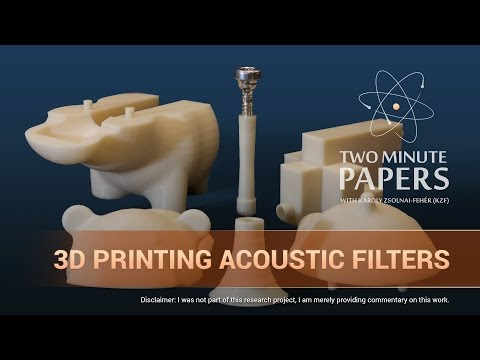 3D Printing Acoustic Filters   Two Minute Papers #109