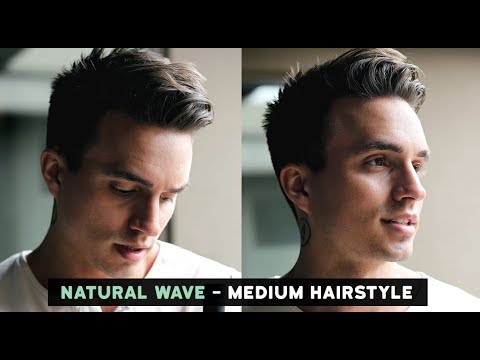 Mens hairstyles - Men's Natural Wave Voluminous Hairstyle + Current Hairstyle Update (Medium Length)