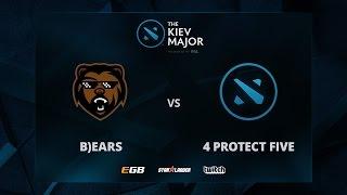 4 protect five vs B)ears, The Kiev Major EU Main Qualifiers