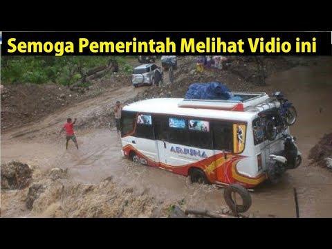 4 Vidio BUS Melewati Jalanan Berlumpur di Sulawesi