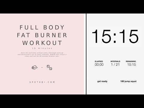 15-Minute Full Body Fat Burner Workout  Spotebi