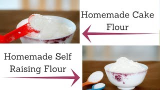 """How to Make Cake Flour and Self Raising Flour at HomeCake flourIt's very easy and cheaper than buying at stores. You only need 2 ingredients: all purpose flour and cornstarch!1 cup flour 2 tbsp of cornflourSelf raising flourThis is do simple and easy to make with ingredients that you already have1 cup of flour1 1/2 tsp of baking powder1/2 tsp of salt""""My 1cup=250ml""""Eggless Chocolate cake Premix:https://goo.gl/csLRuxEggless Vanilla Cake Premix:https://goo.gl/U2JAo3Homemade Butter: https://goo.gl/Xsa1ijEggless ladi pav:https://goo.gl/dY4yi9Cheese:https://www.youtube.com/watch?v=ixYkrHWmcCshttps://www.youtube.com/watch?v=ICP8d5SgOXYFor more recipes: http://www.wannabeachef.comSubscribe: https://www.youtube.com/channel/UC2Rjp0E93wXQH1MSBM69zUAYou can also visit me on my Facebook page:  https://facebook.com/wannabeachef/"""