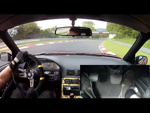 Nissan 200SX S13 Nürburgring Nordschleife onboard with foot cam 29.06.2016 日産 ニュルブルク